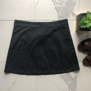 Forever 21 Grey Back Zip Up Mini Skirt
